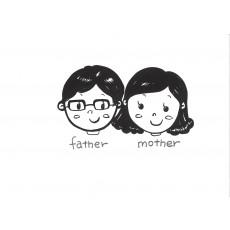 기초드로잉과영어3 father & mother