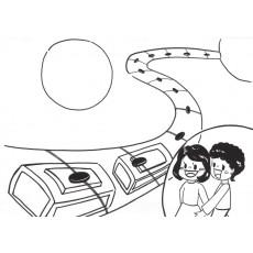 과학상상화4 우주 쾌속 열차