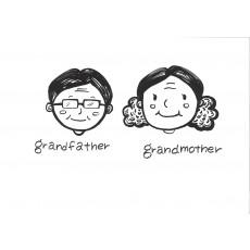 기초드로잉과영어4 grandfather & grandmother