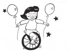 학교행사7 외발 자전거