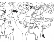 공모전&포스터8 낙타 차를 타고 가는 사람