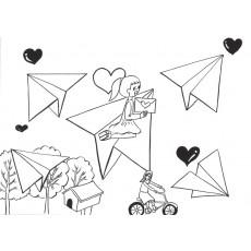 공모전&포스터10 종이비행기는 편지를 싣고