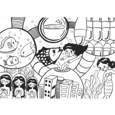 과학상상화15 인어공주 해저마을